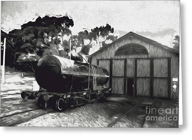Old Tanker Train Carriage Fine Art Greeting Card by Jorgo Photography - Wall Art Gallery