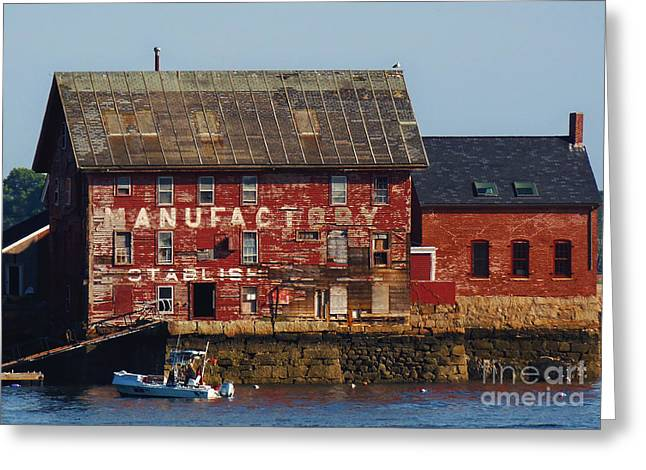Old Tarr And Wonson Paint Factory. Gloucester, Massachusetts Greeting Card