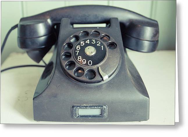 Old Telephone Square Greeting Card