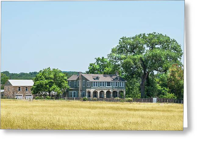 Old Texas Farm House Greeting Card
