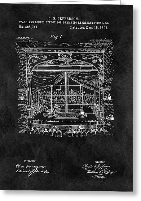 Old Theater Stage Patent Greeting Card by Dan Sproul