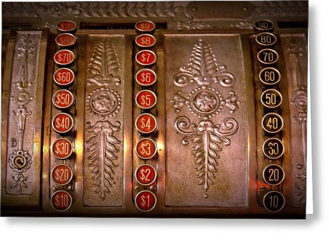 Old Time Cash Machine Greeting Card by Patricia Strand