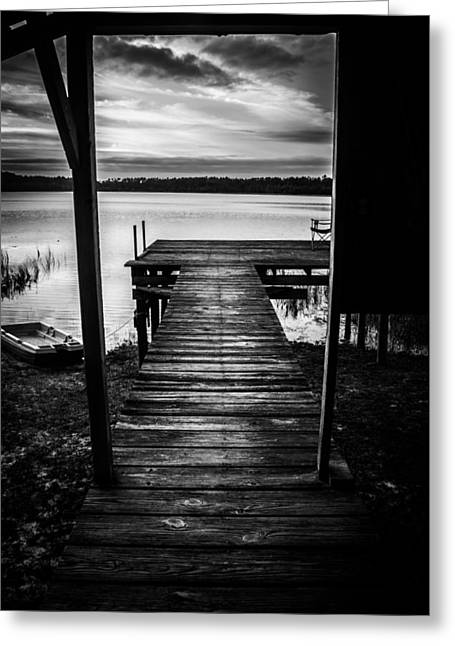 Old Time Dock. Greeting Card