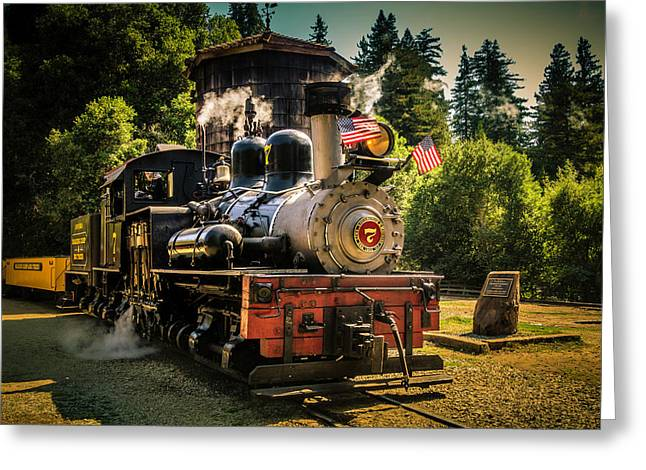 Old Time Locomotive Sonora Greeting Card by Garry Gay