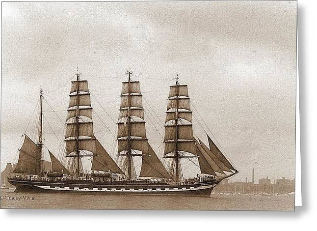 Old Time Schooner Greeting Card