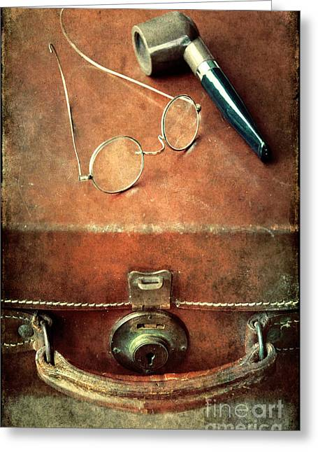 Old Time Travel Greeting Card by Svetlana Sewell