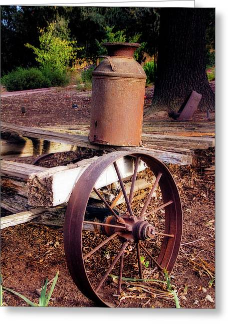 Old Time Wagon Greeting Card