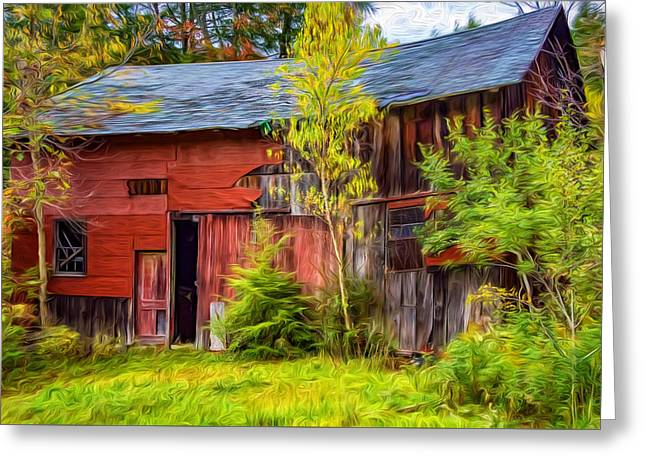 Old Timer 3 - Paint Greeting Card