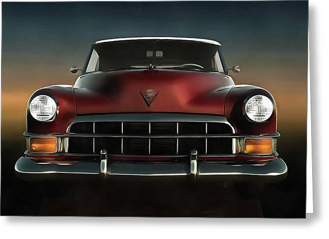 Old-timer Cadillac Convertible Greeting Card