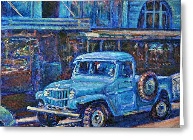 Old Timer Greeting Card by Li Newton