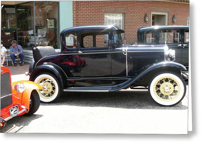 Old Timey Shined And Ready To Roll Greeting Card by Anne-Elizabeth Whiteway
