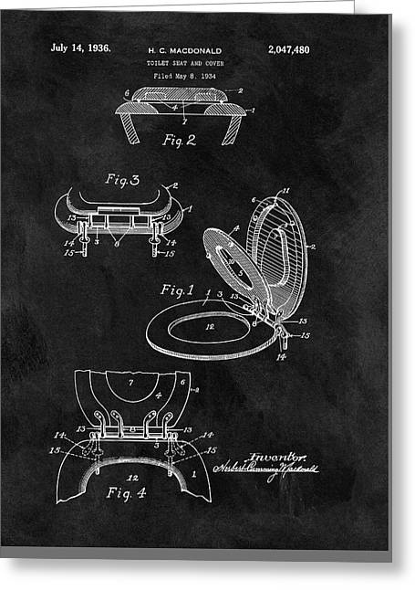 Old Toilet Seat Patent Greeting Card by Dan Sproul