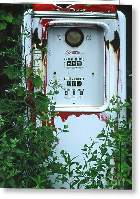 6g1 Old Tokheim Gas Pump Greeting Card