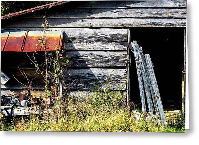 Old Tool Shed  Greeting Card by JW Hanley