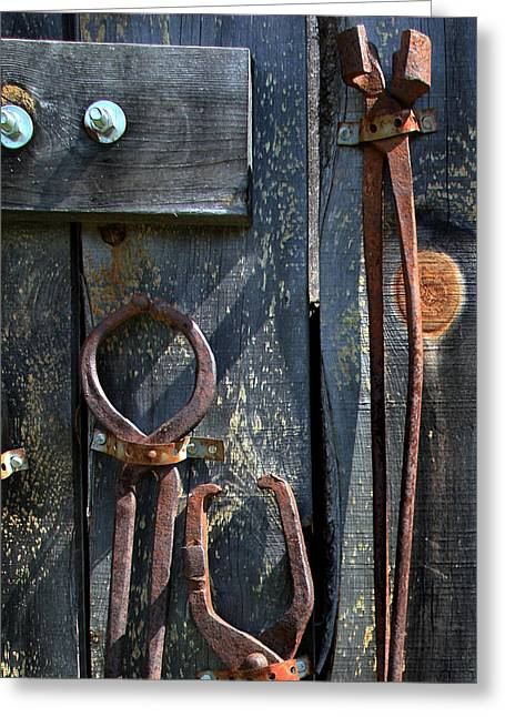 Greeting Card featuring the photograph Old Tools by Joanne Coyle