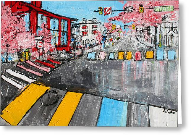Old Town Alexandria Virginia Prince Street And Route One 2015041 Greeting Card by Alyse Radenovic
