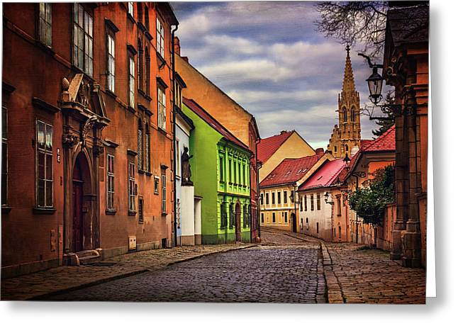 Old Town Bratislava  Greeting Card by Carol Japp