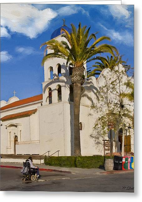 Old Town Church Greeting Card by Patricia Stalter