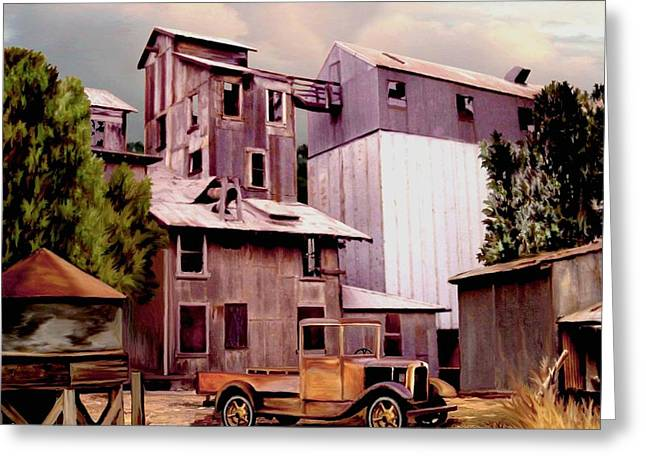 Old Town Granary Greeting Card by Ron Chambers