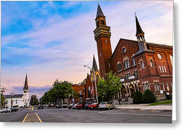 Greeting Card featuring the photograph Old Town Hall Easthampton, Ma by Sven Kielhorn