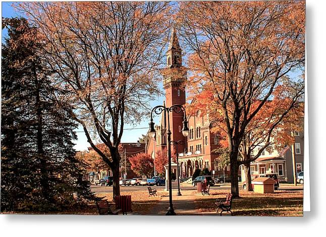 Old Town Hall In The Fall Greeting Card