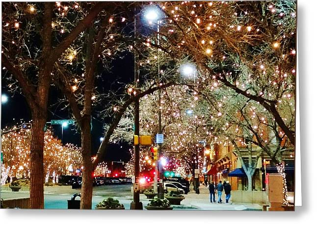 Old Town In December Greeting Card by Shari Massey