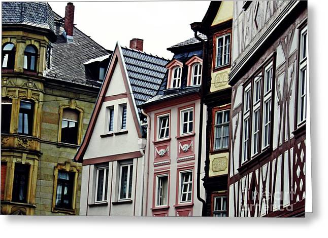 Old Town Mainz Greeting Card by Sarah Loft