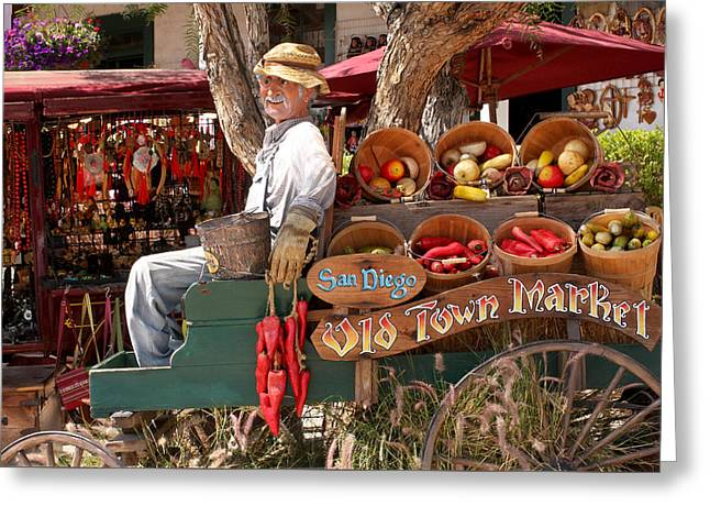 Old Town Market Greeting Card