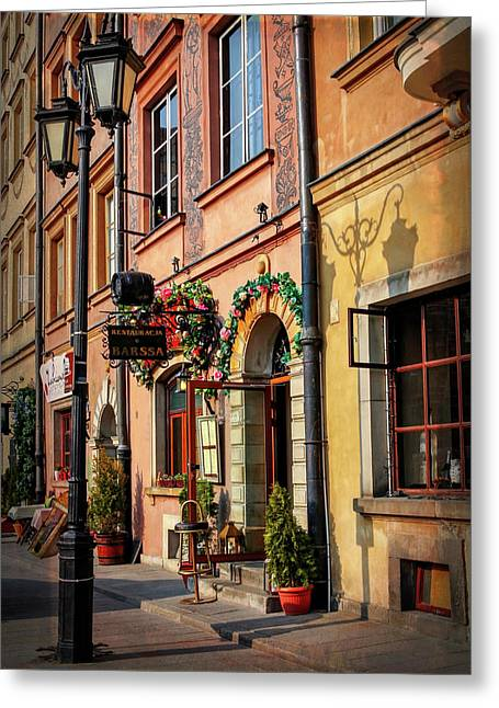 Old Town Market Square Warsaw Poland  Greeting Card