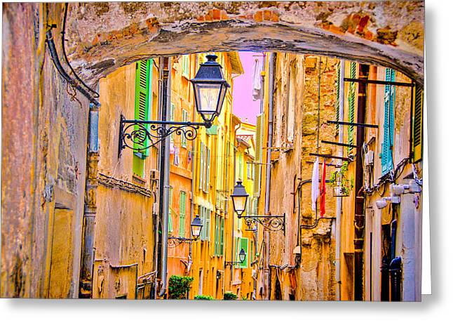 Old Town Nizza, Southern France Greeting Card