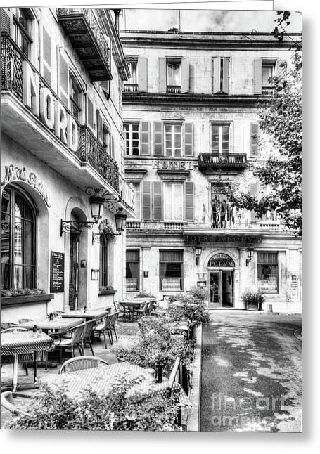 Old Town Of Arles 4 Bw Greeting Card