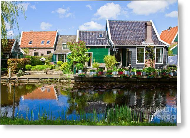 old  town of Zaandijk, Netherlands Greeting Card by Anastasy Yarmolovich
