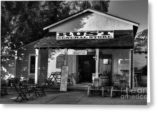 Old Town San Diego 2 Bw Greeting Card