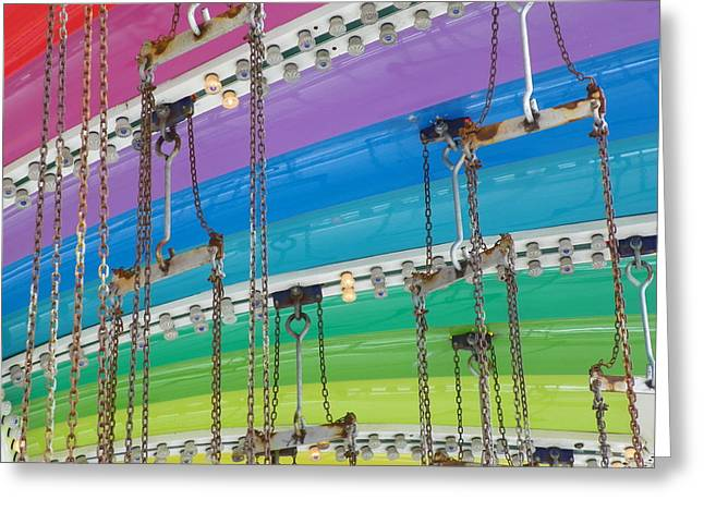 Old Town Swing Greeting Card by Caren Grant