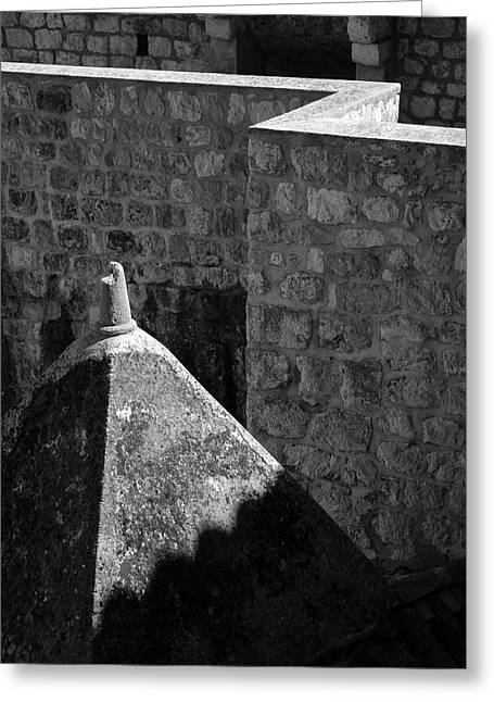 Old Town Walls Greeting Card