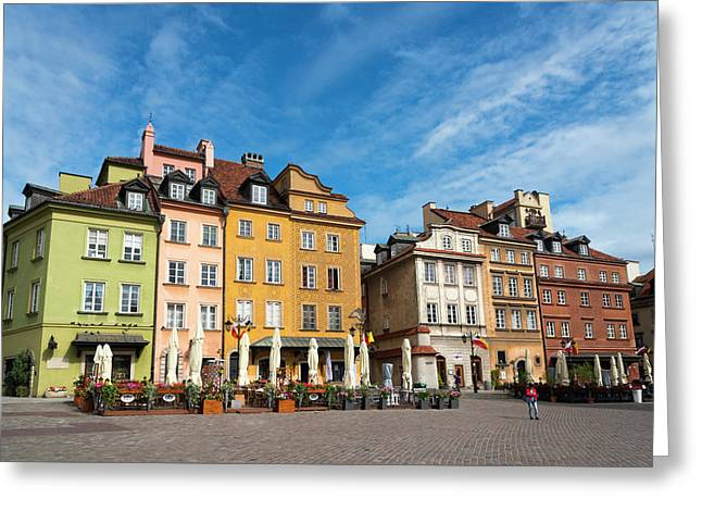 Old Town Warsaw Greeting Card by Chevy Fleet
