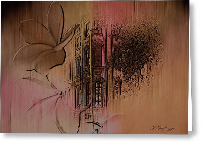 Old Towne Greeting Card by Jean Gugliuzza