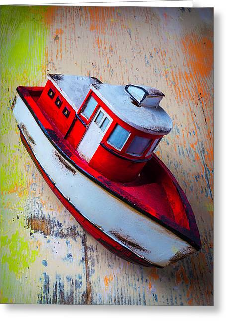 Old Toy Boat Greeting Card