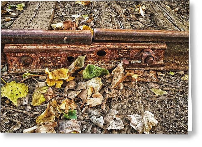 Old Tracks Greeting Card