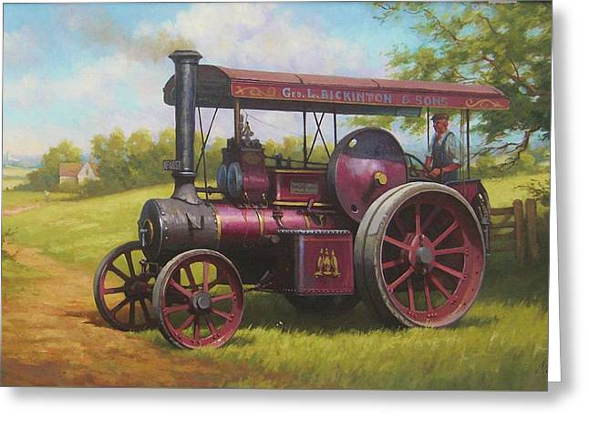 Old Traction Engine. Greeting Card by Mike  Jeffries