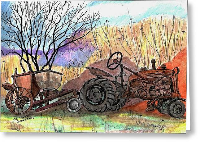 Old Tractor Danvers Ma Greeting Card
