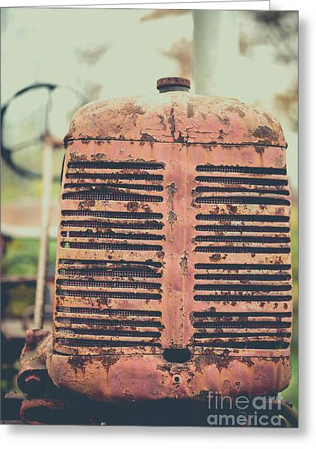 Greeting Card featuring the photograph Old Tractor Vintage Look by Edward Fielding