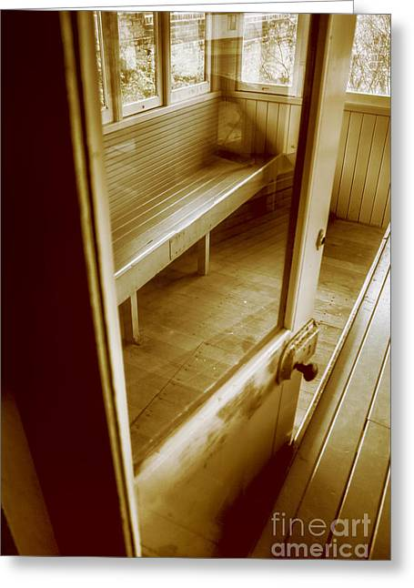 Old Train Cabin Greeting Card by Jorgo Photography - Wall Art Gallery