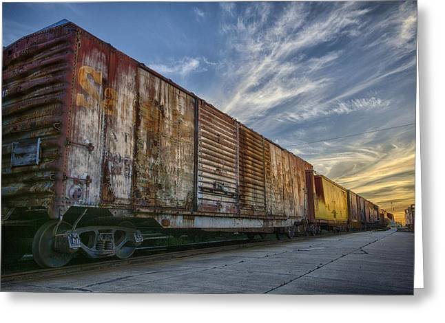 Old Train - Galveston, Tx Greeting Card