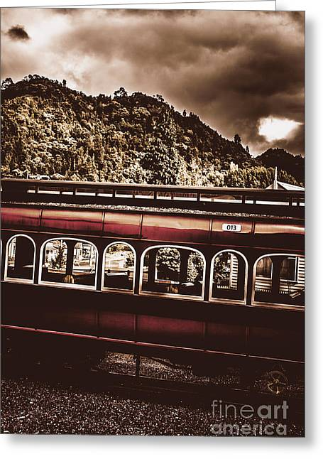 Old Train Passenger Carriage Numbered 13 Greeting Card by Jorgo Photography - Wall Art Gallery
