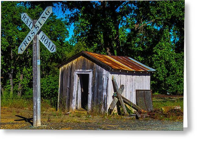 Old Train Shed Greeting Card