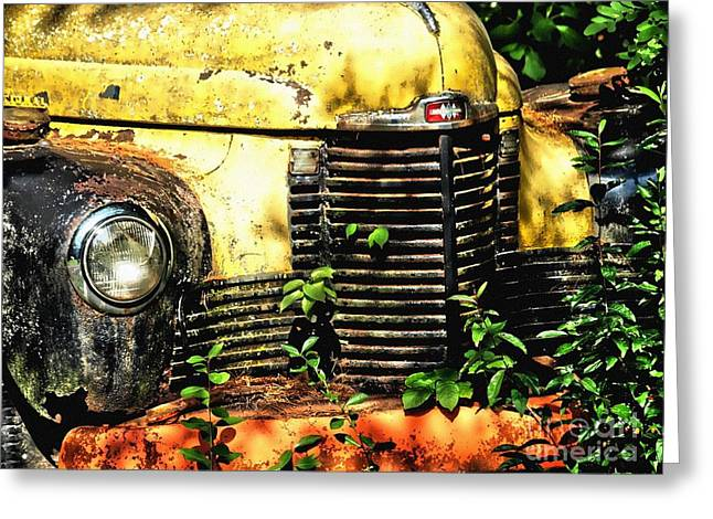 Old Transportation Greeting Card by Kathy Jennings