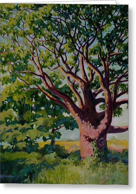 Greeting Card featuring the painting Old Tree by Andrew Danielsen
