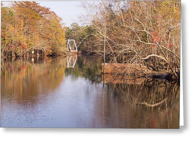 Old Trestle On The Waccamaw River Greeting Card