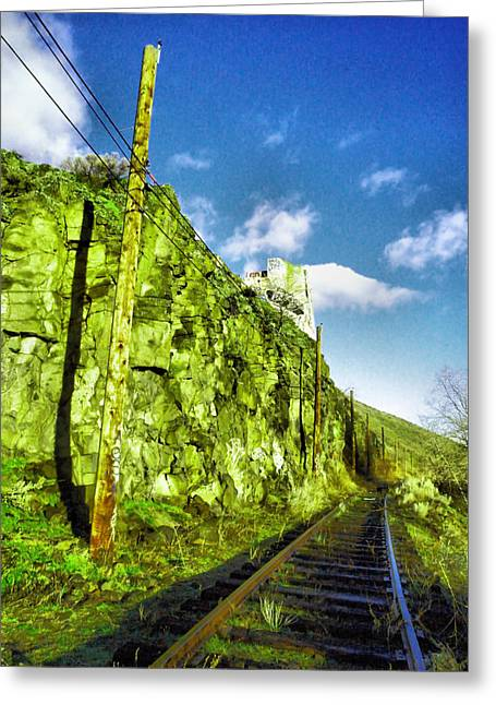 Greeting Card featuring the photograph Old Trolly Tracks by Jeff Swan